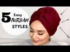 5 Easy Turban Styles for Everyday Life I Pashmina I 5 kolay günlük türban modeli - YouTube