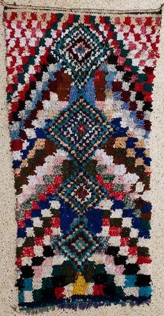 boucherouite rug moroccan rugs rag rug berber by BOUCHEROUITE, $479.00
