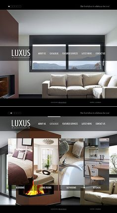 Interior Website Design with Gallery