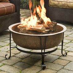 Have to have it. CobraCo Vintage Copper Fire Pit with FREE Cover - $309.99 @hayneedle