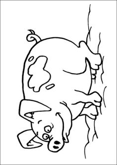 pig in mud coloring pages - photo#29