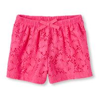Toddler Girls Lace Culotte Knit Short
