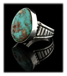 Deep Blue Royston Turquoise Ring