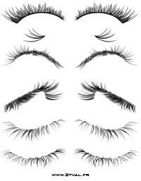 eyelash brushes and tutorial how to use them Zeichentechniken Drawing Techniques, Drawing Tips, Drawing Sketches, Pencil Drawings, Painting & Drawing, Art Drawings, Sketching, Drawing Ideas, Poses References