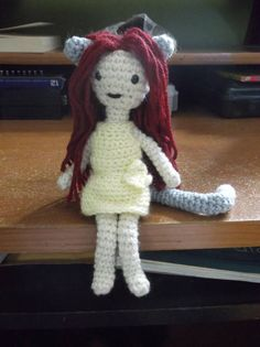 Crochet cat girl doll doll amigurumi doll with cat ears and