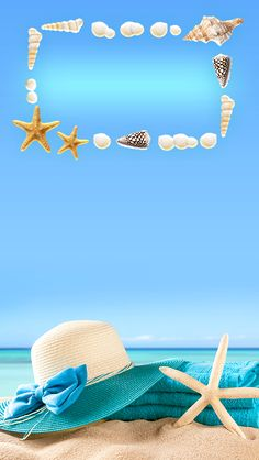 ↑↑TAP AND GET THE FREE APP! Lockscreens Art Creative Sky Water Sun Beach Chill Hat Star Blue HD iPhone 5 Lock Screen