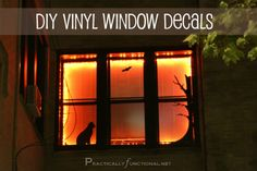 Halloween Decorations: DIY Vinyl Window Stickers! - Practically Functional