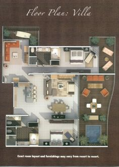 2 bedroom Villa with SF of space and your own private plunge pool on balcony Riviera Maya Mexico, Master Room, Plunge Pool, Floor Plans, Layout, Flooring, How To Plan, Mansions, House Styles