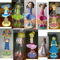muñecas goma EVA, EVA dolls