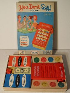 1960s Milton Bradley You Don't Say Vintage Game
