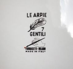 "Early 1950's Fornasetti Harpy Plate ""Le Harpie, Gentile."" Numbered #7 on reverse side of plate"
