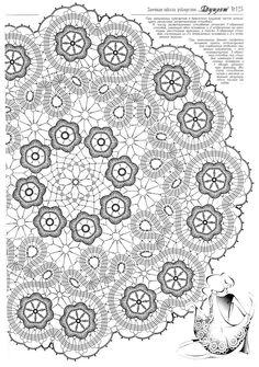 Diagramme du centre de table avec points de Bruges https://picasaweb.google.com/102235370985509721851/SerwetkiBurgijskie?noredirect=1#5635063343442409922