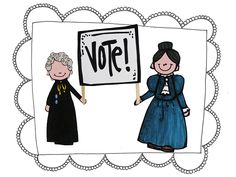 Susan B. Anthony and Elizabeth Cady Stanton Craft with popsicle sticks from my Women's History Month Unit!