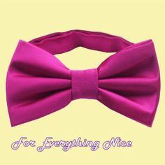 Fuschia Magenta Pink Formal Groomsmen Groom Wedding Mens Neck Bow Tie