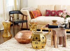 Gold accents galore in the home of Lauren Santo Domingo | Rue