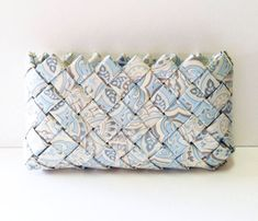 Baby Blue Paisley Coin Purse