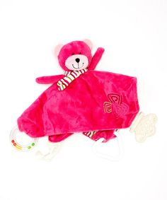 Take a look at this Pink Bobbie the Bear Chewbie Lovey by Stephan Baby on #zulily today!