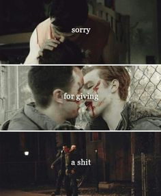 Sorry I give a shit. I love you Ian Gallagher