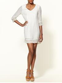 Crochet Trim Mini Dress - StyleSays
