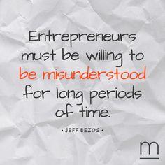 On being a #visionary. #quoteoftheday #JeffBezos #ventureforth
