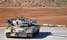 The Russian army's main tank is currently T-80U, )