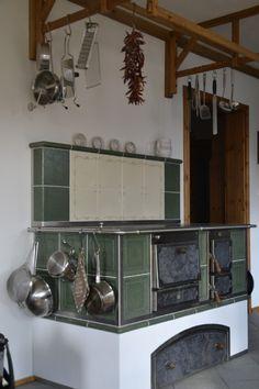 Tischherd - KTH_38 - Kloss Wohnherde GmbH Decor, Cottage Kitchens, Cabin Decor, Kitchen Remodel, House Design, Kitchen Decor, Wood Heater, Interior Design, Home Decor