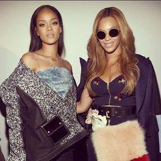 Beyoncé & Rihanna @ adidas Originals x Kanye West Yeezy Season 1. #Beyoncé #fashionstyle #Rihanna #adidasoriginal #Newyork