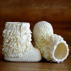 Baby Booties PDF Crochet Pattern Furrylicious Boot  - Pattern number 200. $5.50, via Etsy.
