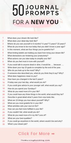 50 Journal Prompts For Self Discovery 50 journal prompts for self discovery so y. 50 Journal Prompts For Self Discovery 50 journal prompts for self discovery so you can become a better you and bring yourself closer to the life always wanted. Journal Questions, Becoming A Better You, What Are You Doing, Things To Do When Bored, Journal Writing Prompts, Journal Prompts For Adults, Bullet Journal Prompts, Journal Topics, Journal Entries