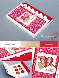 Tutorial Box, Chocolates «Thinlits Words of Love» - Djudiscrap