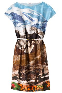 Printed silk dress, Carven