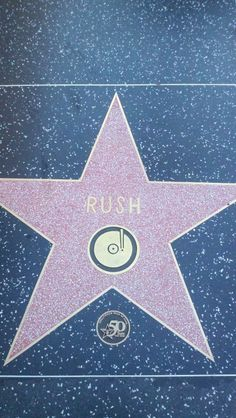 Rush's star on Hollywood Walk of Fame in June 2010.