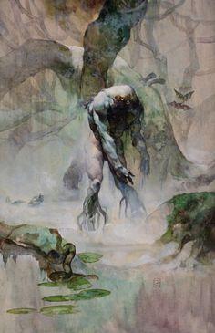 Swamp Monster by Jeff Jones, 1974