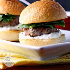Middle Eastern Style Lamb Sliders with Yogurt Sauce Recipe on Yummly