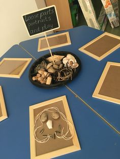 Loose parts play at the tinkering tables. My early years learning areas, Danielle Heron.