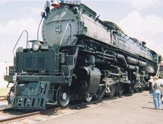 Union Pacific 3985 in Houston Tx (originates from Cheyenne WY): I took this photo. The locomotive happened to be in Houston area. I took this photo.