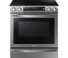 "Samsung - Chef Collection Flex Duo 30"" Self-Cleaning Slide-In Double Oven Electric Convection Induction Range - Stainless Steel - Front Zoom"