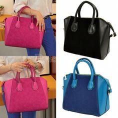 Nubbuck Synthetic Leather sourire sac bandoulière épaule sac à main nouveau mode féminine. 5,97 €