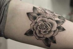 Stipple Rose Tattoo Tattoos | Find Tattoos