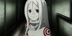 Shiro from Deadman Wonderland has a cute anime smile!