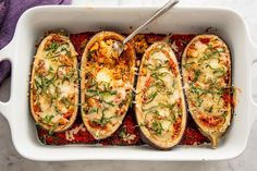 Stuffed Eggplant Parm  - Delish.com