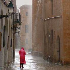 Rainy day in old and beautiful Ciutadella (island off Spain)--(by Ben The Man)
