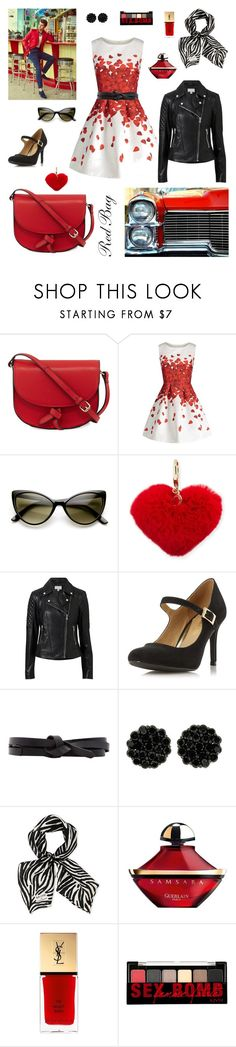 """""""Red Bag: Nod the 1950's"""" by nrspinks ❤ liked on Polyvore featuring KC Jagger, ZeroUV, Rebecca Minkoff, Witchery, Dorothy Perkins, Isabel Marant, Longchamp, Guerlain, Yves Saint Laurent and NYX"""