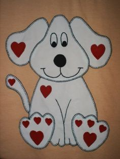 .This dog appliqué made me smile when I saw it..That's always a good sign!...