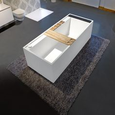 Sometimes the life just need a simple choice. Daydreamer-Mini by Massimo Farinatti Rectangular Freestanding Solid Stone Surface Bathtub - Bathtub - Gorgeous Tub