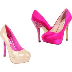 I have these hot pink satin shoes and I love, love, love em!
