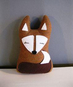 Forest Fox Plush Ecofriendly Toy Woodland by rileyconstruction, $35.00