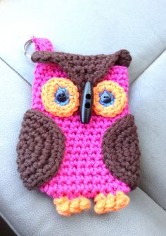 Owl Iphone or Phone Cozy Small Purse Valentine Gift by ladyjunebug, $14.99