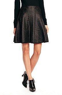 'Rumer' | Cotton Blend A-Line Skirt, Black