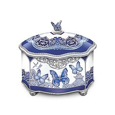 Blue Willow-Inspired Flights Of Love Butterfly Music Box ~ Sarah's Country Kitchen ~